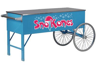 Gold Medal 3150SK SnoKone Cart w/ 2-Spoke Wheels & Stainless Countertop, Blue
