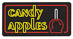 Gold Medal 4984 Candy Apples Lighted Sign w/ Fluorescent Illumination