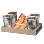 Gold Medal 5200 Disposable Snack Bat Carry-Out Trays, Drive-In Style, 250/Case