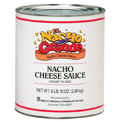 Gold Medal 5253 El Nacho Grande One Step Cheese Sauce, (6) #10 Tins