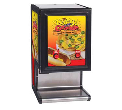 Gold Medal 5301 Chili Cheese Dispenser w/ 2-Pumps & 140-oz Bag Capacity Each