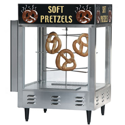 Gold Medal 5550PR 23-in Countertop Pretzel Merchandiser w/ 70-Jumbo Capacity & 1-Door