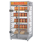 Gold Medal 5588 12-in Countertop Grande Nacho Portion Pak Display w/ 5-Shelves & 2-Lift Out Doors