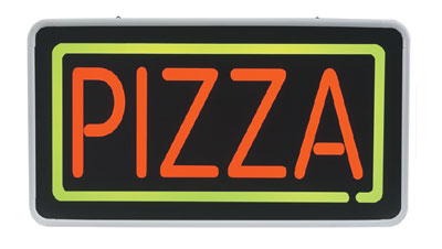 Gold Medal 5884 Pizza Lighted Menu Sign