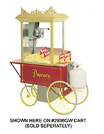 Gold Medal 5908GGT 120208 G-Whiz Popcorn Machine w/ 12-oz Kettle & LP Gas Fired, 120/208V