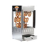 Gold Medal 6501 18-in Countertop Merchandiser w/ 75-Jumbo Pretzel Capacity & Sterno Heat
