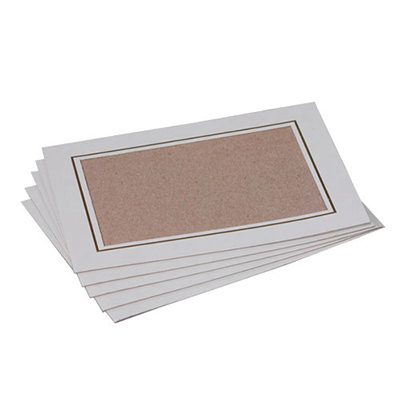 Gold Medal 7738 Card Frames, 2-Bundles of 100/Case