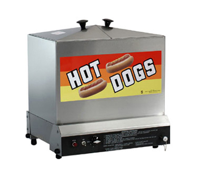 Gold Medal 8012 Super Steamin Demon Steamer w/ 180-Hot Dog & 80-Bun Capacity, Stainless