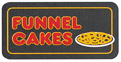 Gold Medal 8084 Funnel Cakes Regular Lighted Sign