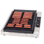 Gold Medal 8160 Small Grilla Reciprocating Grill w/ 36-Hot Dog Capacity & EZ Kleen Surface
