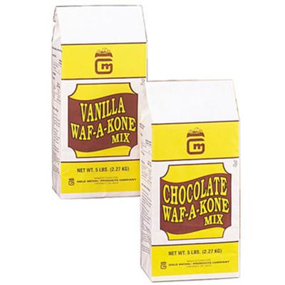Gold Medal 8212 5-lb Vanilla Waf-A-Kone Mix, 6-Bags/Case