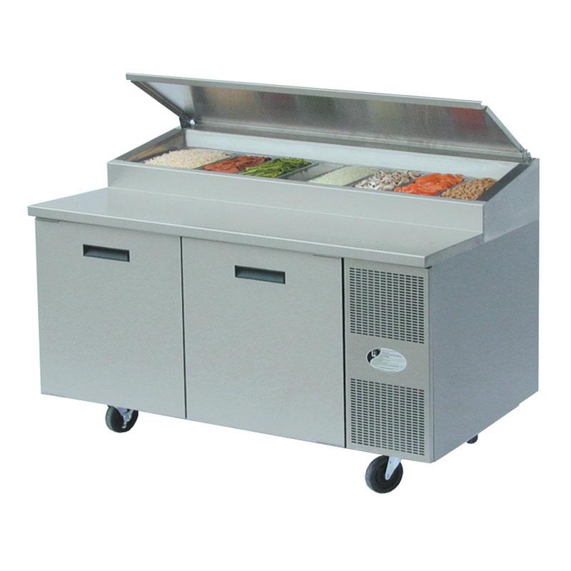 "Randell 8260NPCB 60"" Pizza Prep Table w/ Refrigerated Base, 115v"