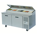 "Randell 8268N 68"" Pizza Prep Table w/ Refrigerated Base, 115v"