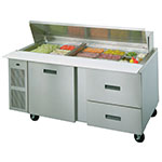 "Randell 9045K-7 72"" Sandwich/Salad Prep Table w/ Refrigerated Base, 115v"