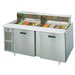 "Randell 9230-32-7 72"" Sandwich/Salad Prep Table w/ Refrigerated Base, 115v"