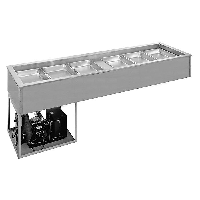 """Randell 9972SCA 69.25"""" Drop-In Refrigerator w/ (5) Pan Capacity - Cold Wall Cooled, 115v"""