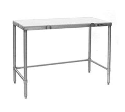 Eagle Group CT3060S Cutting Table - White Polymer Top & Stainless Frame, 60x30