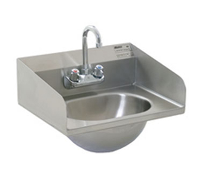 "Eagle Group HSA-10-F-LRS-1X Wall Mount Commercial Hand Sink w/ 13.5""L x 9.75""W x 6.75""D Bowl, Basket Drain"
