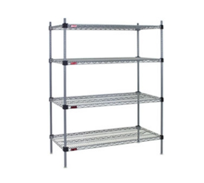 "Eagle Group QA1472S 72x14"" Wire Shelf - Interlocking Corners, Stainless Finish"