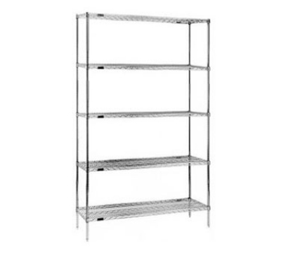 "Eagle Group S5-86-1836Z Wire Shelving Starter Unit - (5) 18x36"" Shelf, 86"" Post, Zinc"