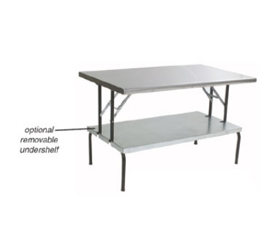 "Eagle Group T3072F-USS 30x72"" Stainless Folding Table - Removable Undershelf"