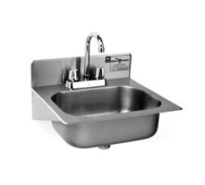 "Eagle Group HSAE-10-FA-1X Wall Mount Commercial Hand Sink w/ 14""L x 10""W x 5""D Bowl, Basket Drain"