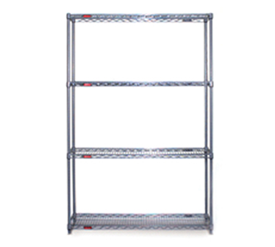 "Eagle Group S4-74-2472C Wire Shelving Starter Unit - (4) 24x72"" Shelf, 74"" Post, Chrome"