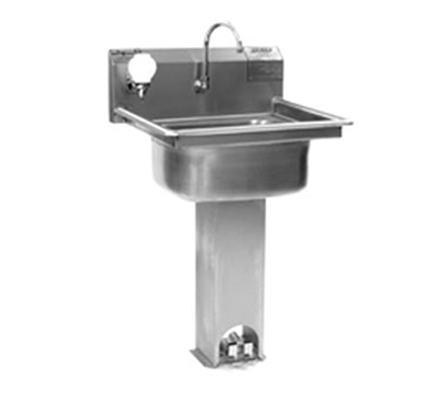 "Eagle Group P1916 Pedestal Commercial Hand Sink w/ 15.75""L x 19.75""W x 8.87""D Bowl, Pedal Valve"