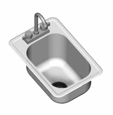 "Eagle Group SR10-14-9.5-1-1X Drop-In Sink Bowl - (1) 14x10x9.5"" Bowl, Deck Mount Gooseneck Faucet"