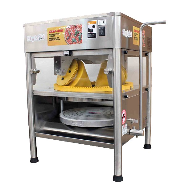 """Skyfood AMP-400 15.75"""" Pizza Dough Opener w/ 240-Pie/Hr Production - Stainless, 115v"""