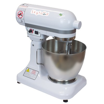 Skyfood BPS-6 6-qt Countertop Planetary Mixer w/ 4-Speeds - White, 110v