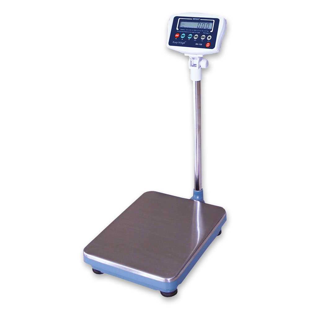 Skyfood BX-120PLUS Platform Receiving Scale w/ 120-lb Capacity, Tilt Head, 120 V