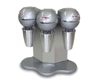 Fleetwood BMS-3 3-Head Drink Mixer w/ (3) 27-oz Stainless Mixing Cups, 110 V