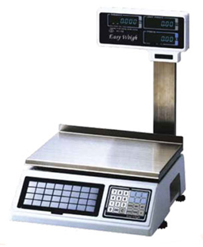 Fleetwood PC-100-PV 60-lb Dual Range Electronic Price Computing Scale w/ Elevated LCD