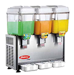 Fleetwood SL003-3P Twin Cold Beverage Dispenser w/ (3) 3-Gal Capacity, Stainless Valves