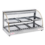 "Skyfood FWD2-33 Food Warmer Display, 33"" w/ 2-Shelf & 6-Trays, Curved Glass"