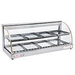 "Skyfood FWD2-43 43.75"" Full-Service Countertop Heated Display Case w/ Curved Glass - (2) Levels, 110v"