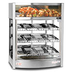 "Skyfood FWD3S12PS 26"" Full-Service Countertop Heated Display Case - (3) Shelves, 110v"