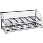 "Skyfood FWDE2-37 36.63"" Full-Service Countertop Heated Display Case w/ Curved Glass - (2) Levels, 110v"