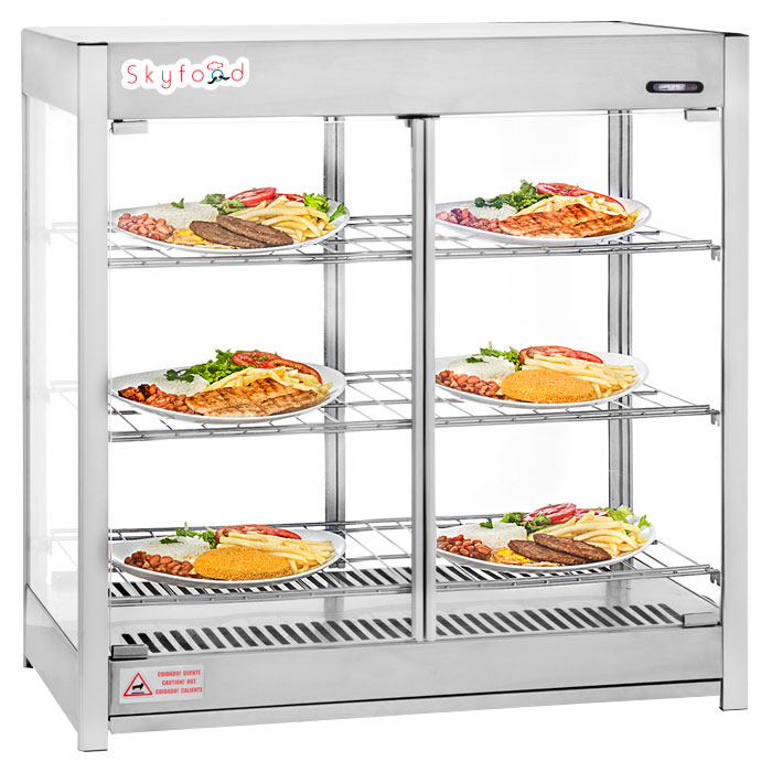 Skyfood HMC-PT Countertop Heated Display Case - Pass-Thru, 120v