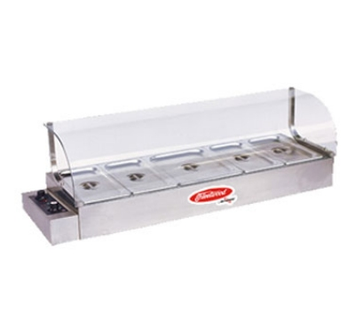 Fleetwood KBM-150 60-in Bain-Marie Hot Food Display w/ Curved Glass Sneeze Guard & Pans