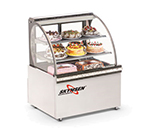 "Fleetwood RBC39 39"" Full Service Bakery Case w/ Curved Glass - (3) Levels, 120v"