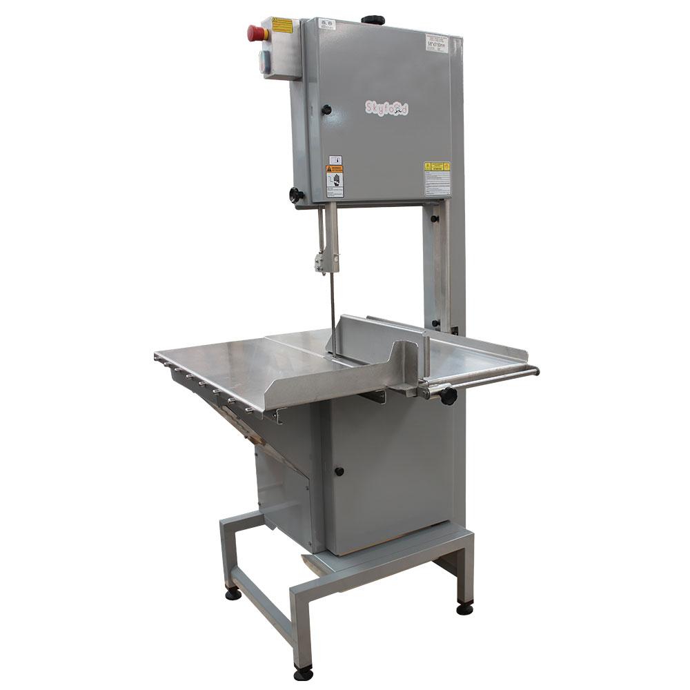 Skyfood SKGE Floor Model Meat & Bone Saw w/ 124-in Blade, Sliding & Stationary Table, Steel, ETL