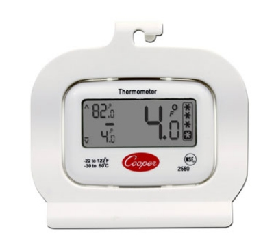 Cooper 2560 Refrigerator Freezer Thermometer, -22 To 122-Degrees F