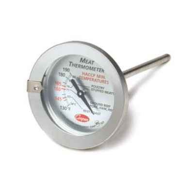 Cooper 323-0-1 Meat Thermometer w/ Pre-Set Pointer, 130 To 190-Degrees F