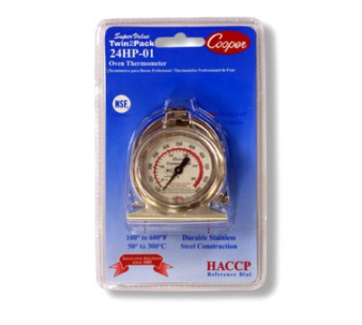 Cooper Instrument 24HP-01C-2 2-Oven Thermometers w/ Color Zone, 50 To 300-Degrees C