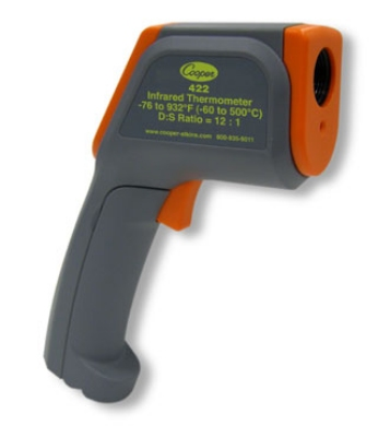 Cooper 422-0-8 Gun Style Infrared Thermometer w/ Range Laser, -76 To 932-Degrees F