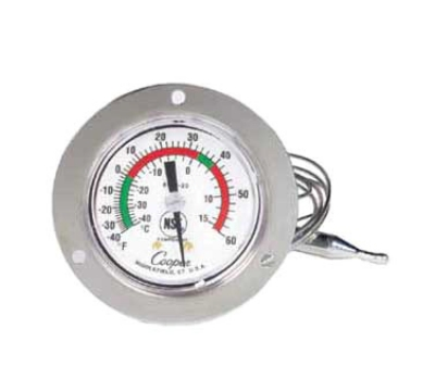 Cooper 6142-20-3 5-oz Dual Scale Dial Thermometer w/ 3-in Front Flange, -40 To 60-Degrees F
