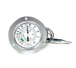 "Cooper 6142-13-3 Dual Scale Dial Thermometer w/ 2"" Front Flange, -40 To 120-Degrees F"