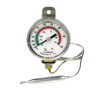 Cooper 6642-06-3 2-in Panel Type Thermometer, -40 To 60-Degrees F
